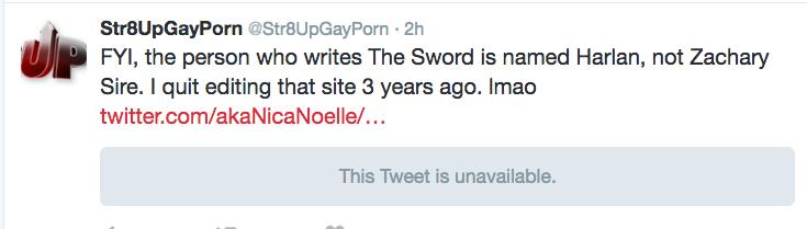 pass the tea First Zach Tweet re Sword Story
